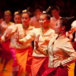 Lamvong dance is performed to welcome Lao New Year
