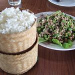 Laos Sticky rice and Laap