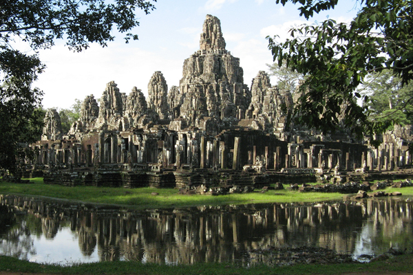 View of Angkor Thom with its surrounded moat