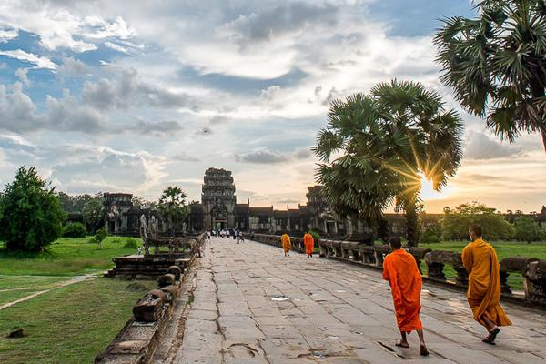 Buddhist monks in Angkor