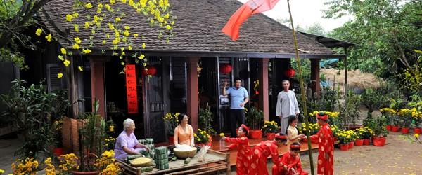 Tet holiday atmosphere in Tet Holiday, Vietnam