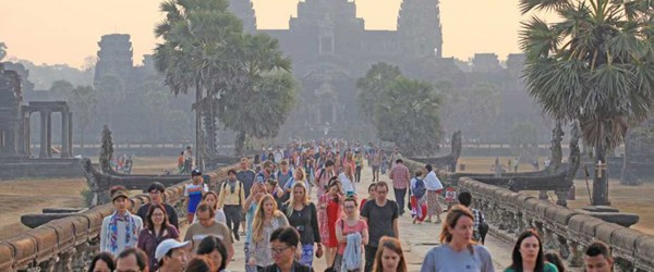 Tourists in Angkor, Siem Reap