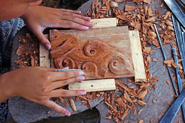Wood carving products laos indochina souvenirs