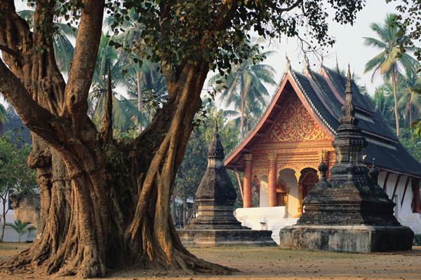The ancient Wat Aham in Luang Prabang - Indochina Tours