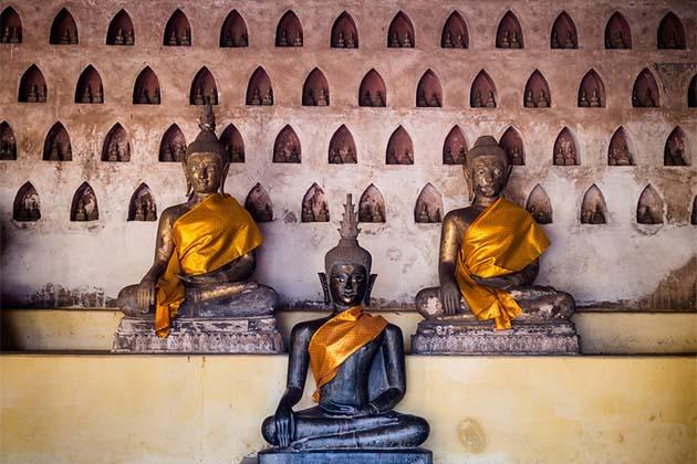 Three Buddhas, Wat Si Saket, Vientiane