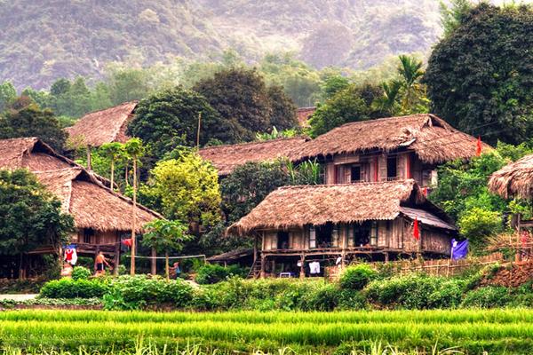 Ethnic village in Mai Chau
