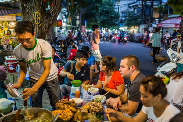 Food tasting tour in Hanoi - 19 days in southeast asia