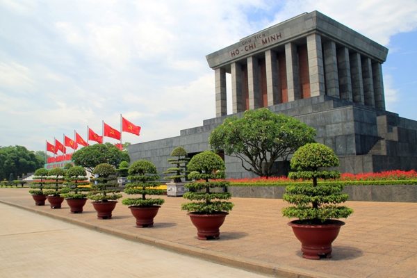 Ho Chi Minh Mausoleum in Ba Dinh Square - Indochina Tours
