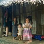 Local children in Ban Na Oune Village, Luang Prabang