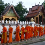 Luang Prabang morning alms giving ceremony