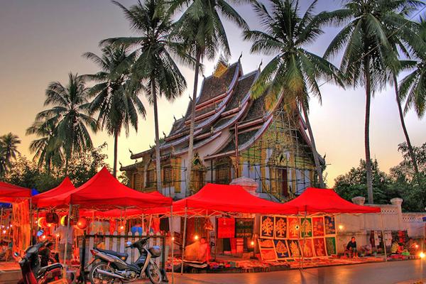 Luang Prabang Night Market - Indochina 3 Week Itinerary