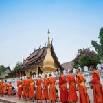 Morning Alms Giving Ceremony in Luang Prabang