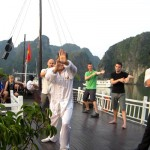 Morning Tai Chi on Cuise Halong