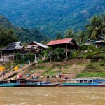 Pass through ethnic villages to get a boat trip to Muong Ngoi