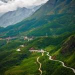 Scenic view of Hai Van Pass