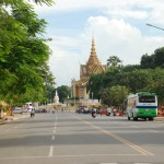 Street near the Royal Palace in Phnom Penh