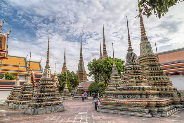 Stupas at Wat Pho - Southeast Asia Discovery 19 Days