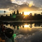 Sun rise over the Angkor Wat