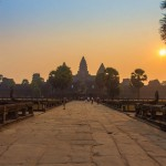 Sunset over the Angkor