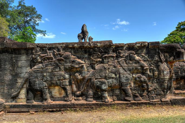 The Elephant Terrace of Angkor