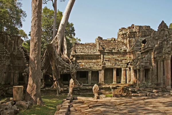 The ruins of Preah Khan Temple