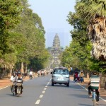 View of Angkor from the nearby street