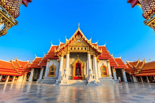 Wat Benjamabophit Bankok - Southeast Asia Tour 19 Days
