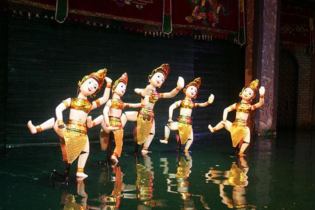 Water Puppet Show Hanoi - Vietnam Cambodia Laos Tours