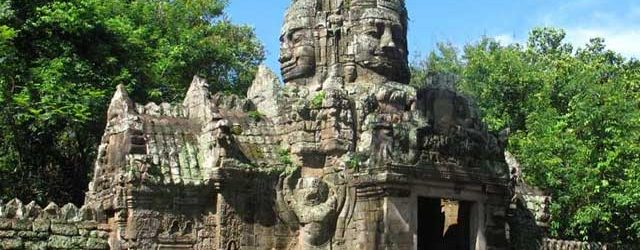 An entrance surrounding Banteay Kdei Temple
