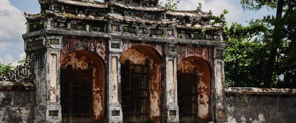 Dai Hong Mon - the main gate of Imperial Tomb of Minh Mang