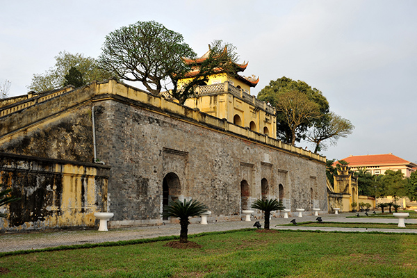 Doan Mon the main gate to the palatial complex of Imperial Citadel of Thang Long still be kept intact