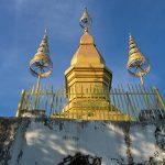 Golden Wat That Chomsi temple Stupa on Mount Phousi