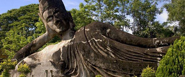 Lying Buddha statue in Buddha Park