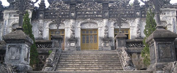 Main facade of Imperial Tomb of Khai Dinh