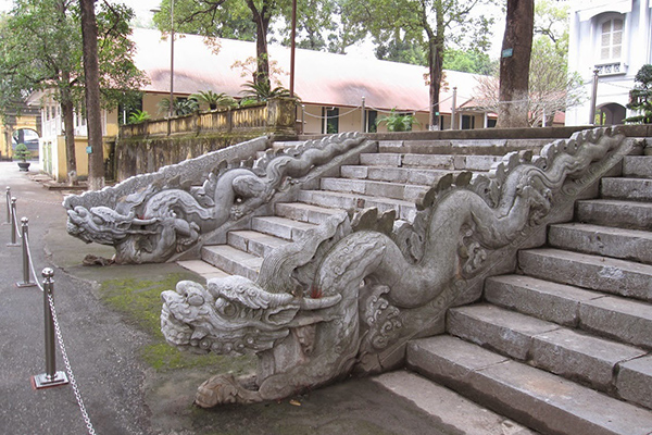 Monuments dragon stair lead into the Kinh Thien Palace in Imperial Citadel of Thang Long