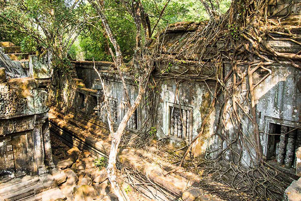 Nature now rules at Beng Mealea temple