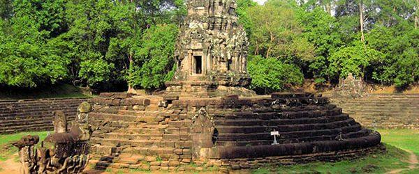 Neak Pean temple in the dry season