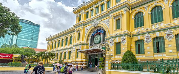 Today, Saigon Central Post Office is one of the most famous buildings in Ho Chi Minh City