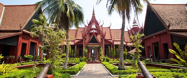 The main facade of Cambodian National Museum