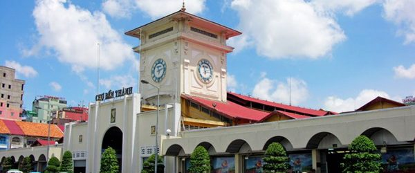 The main gate of Ben Thanh Market