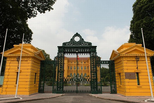 The main gate of The Presidential Palace