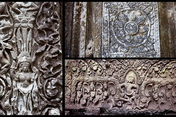 The relief of Beng Mealea temple