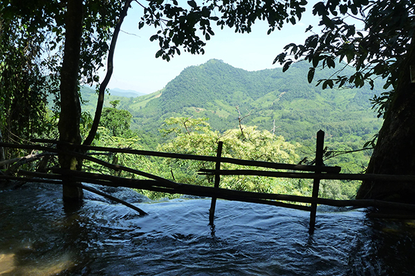 View from the top of Kuang Si Waterfall