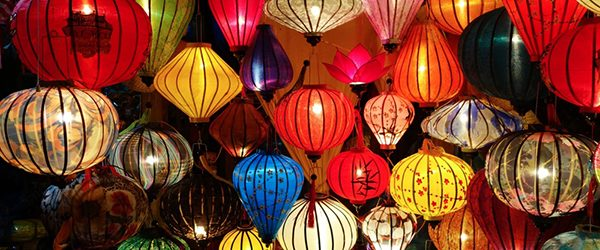 Hoian lantern at night