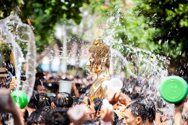 Taking part in the water festival should be the most wonderful