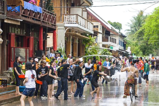 Bunimay(Boun Pi Mai) Water Festival in Laos