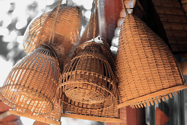 Basketry items cambodian souvenirs