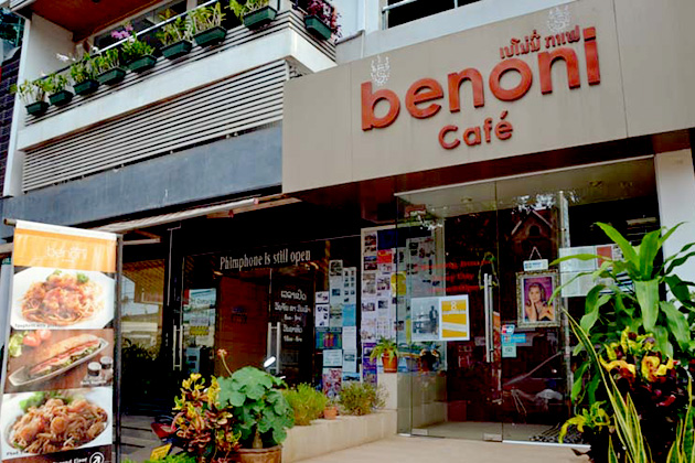 Benoni Cafe considered as the representative symbol of European cafés in Vientiane