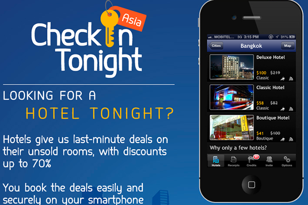 CheckInTonight is the first Asian hotel booking app
