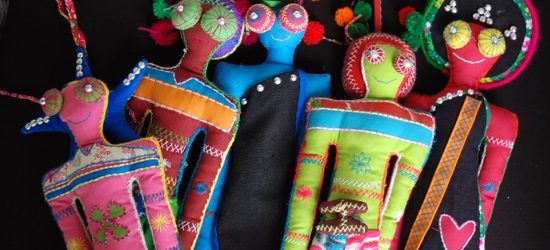 Fabric dolls made in Laos